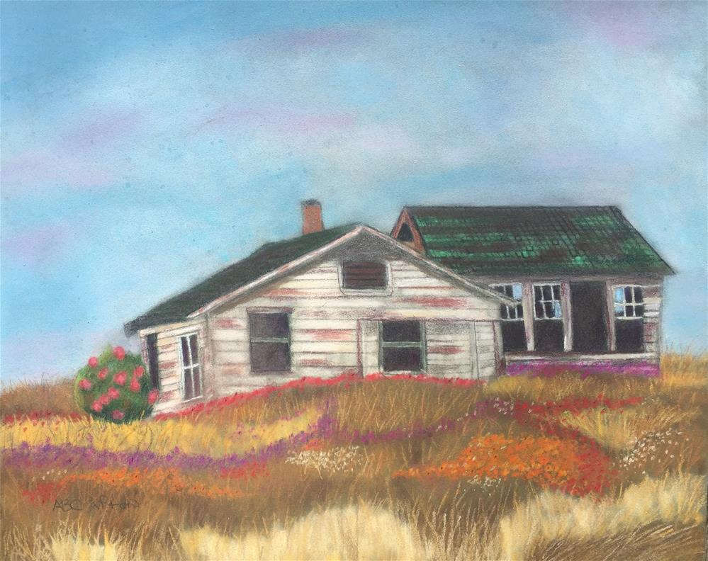 """""""Where Flowers Grow (matted and framed)"""" original fine art by Arlene Crafton"""