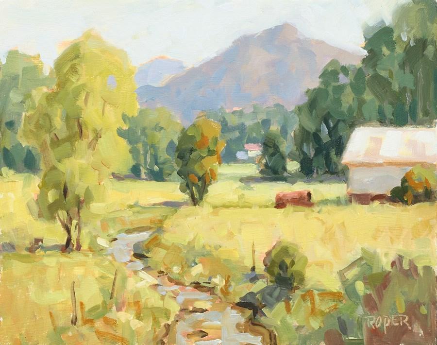 """DAY 19: Turkey Creek Spring"" original fine art by Stuart Roper"