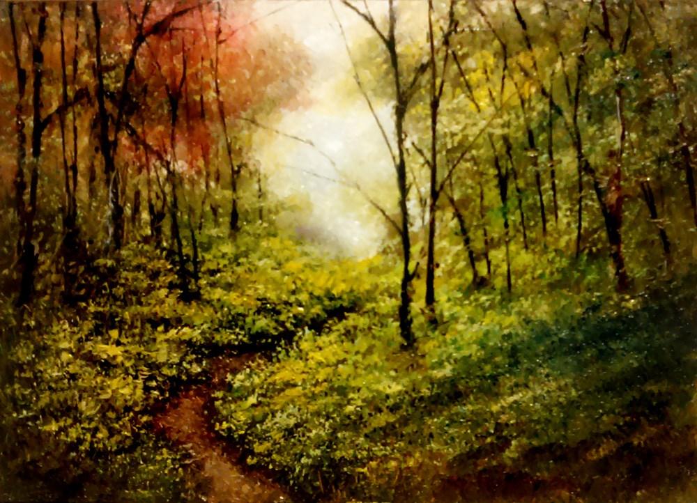 """A Narrow Path"" original fine art by Bob Kimball"