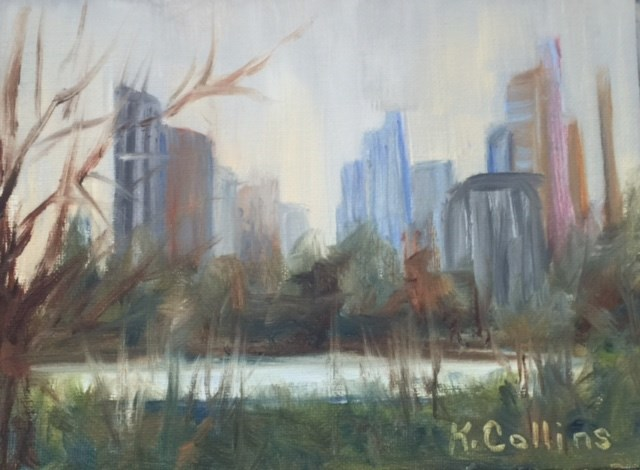 """Central Park Ice Rink"" original fine art by Kathy Collins"