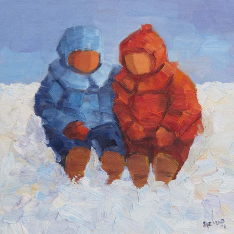 """Little friends II"" original fine art by Steinunn Einarsdottir"