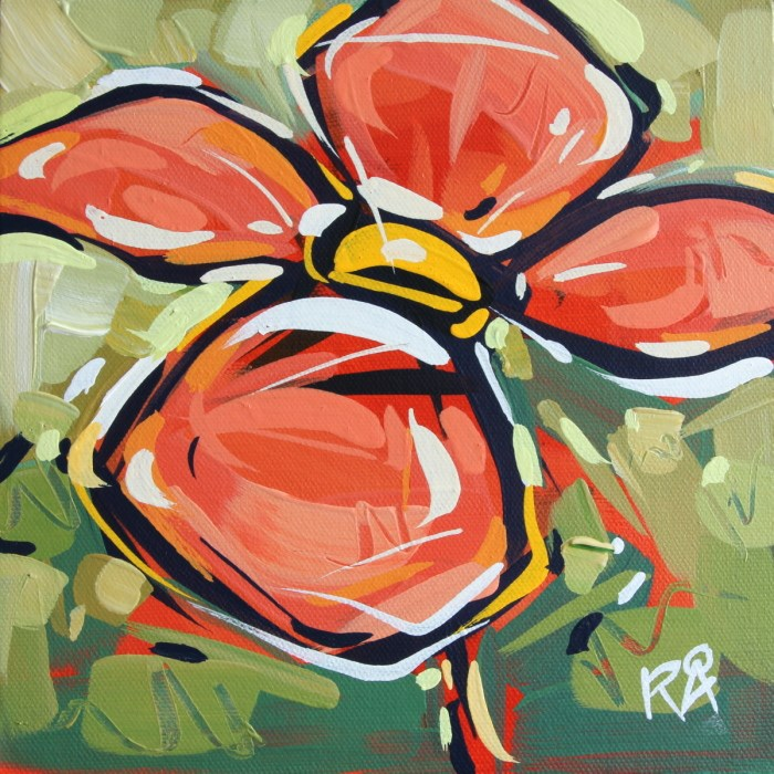 """Flower Abstraction 125"" original fine art by Roger Akesson"