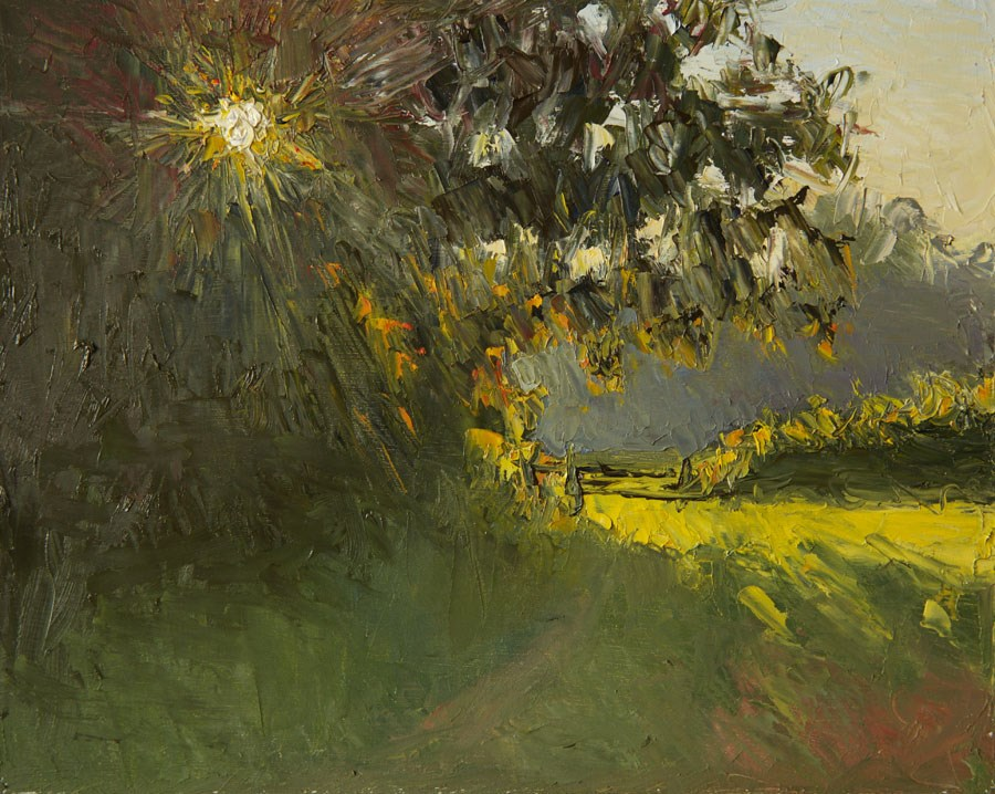 """August Evening"" original fine art by Jethro Knight"
