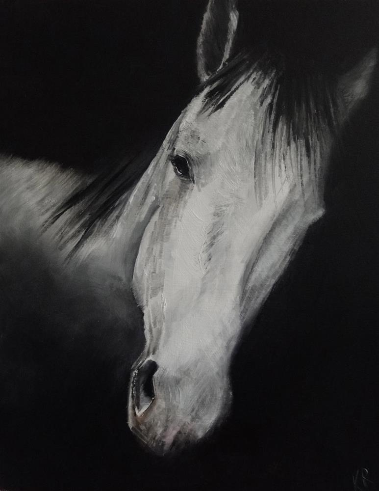 """In the Shadows"" original fine art by Karen Robinson"