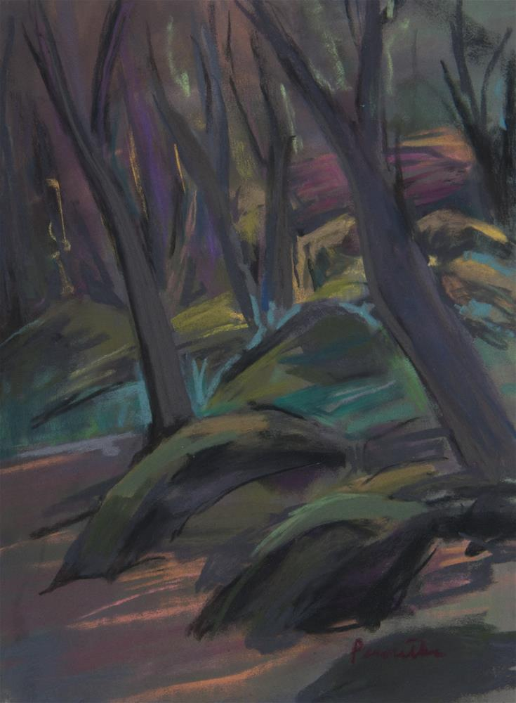 """Trees and Rocks"" original fine art by Sarah Peroutka"
