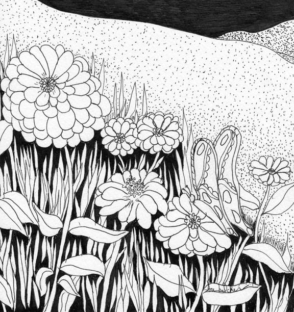 """Linda's Garden"" original fine art by Lou Belcher"