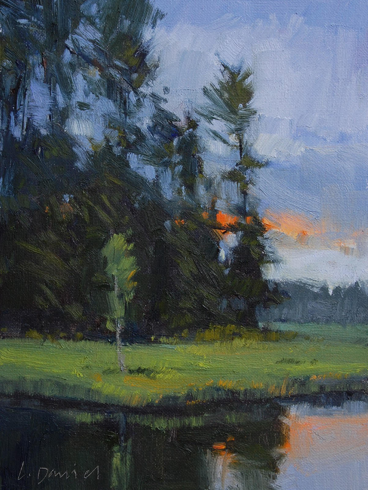 """Evening Pause (study)"" original fine art by Laurel Daniel"