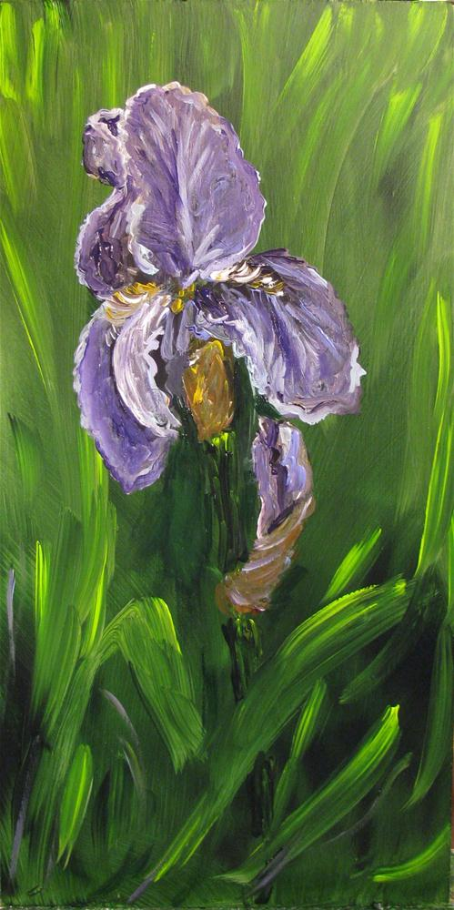 """Tennessee Purple Iris"" original fine art by Susan Elizabeth Jones"