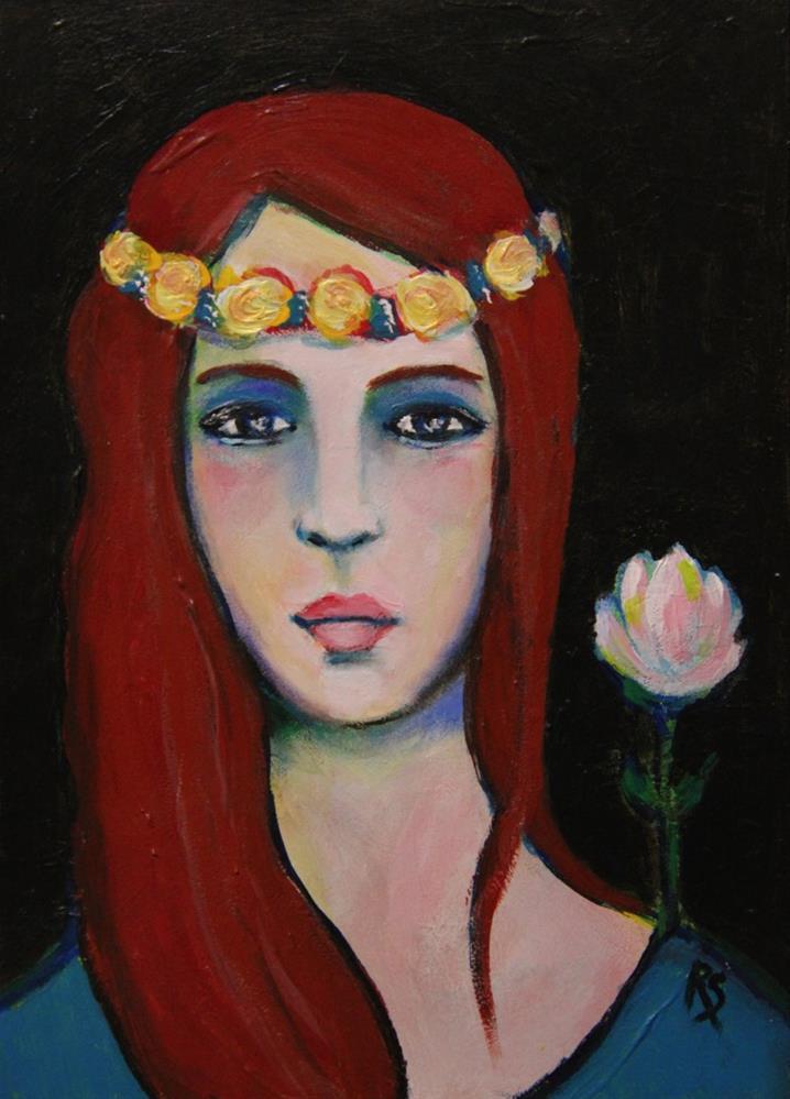 """Zahra"" original fine art by Roberta Schmidt"
