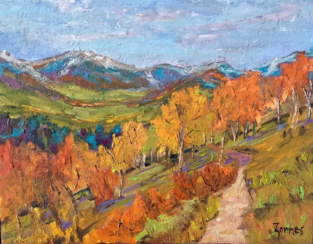 """Aspen Trail"" original fine art by Liz Zornes"