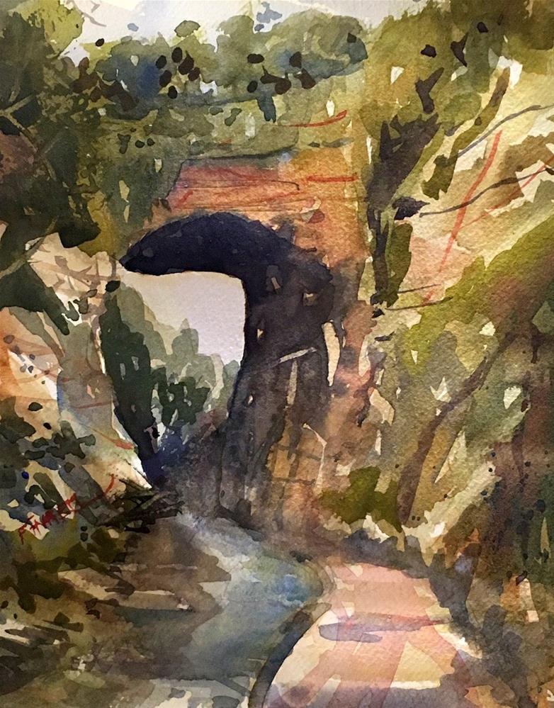 """Natural Bridge, Virginia"" original fine art by David Finnell"