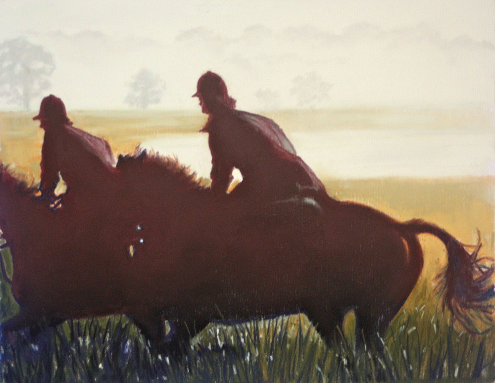 """Ride At First Light"" original fine art by Jill Bates"