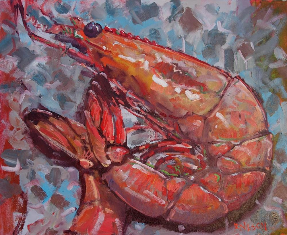 """VooDoo Shrimp"" original fine art by Rick Nilson"