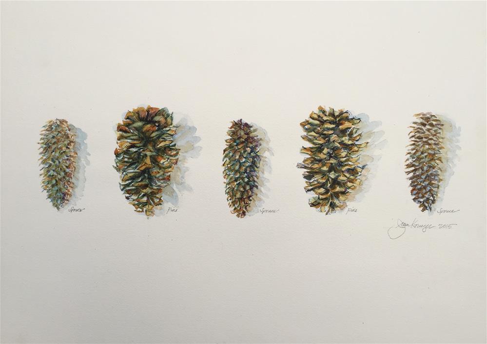 """Spruce Pine Spruce Pine Spruce"" original fine art by Jean Krueger"