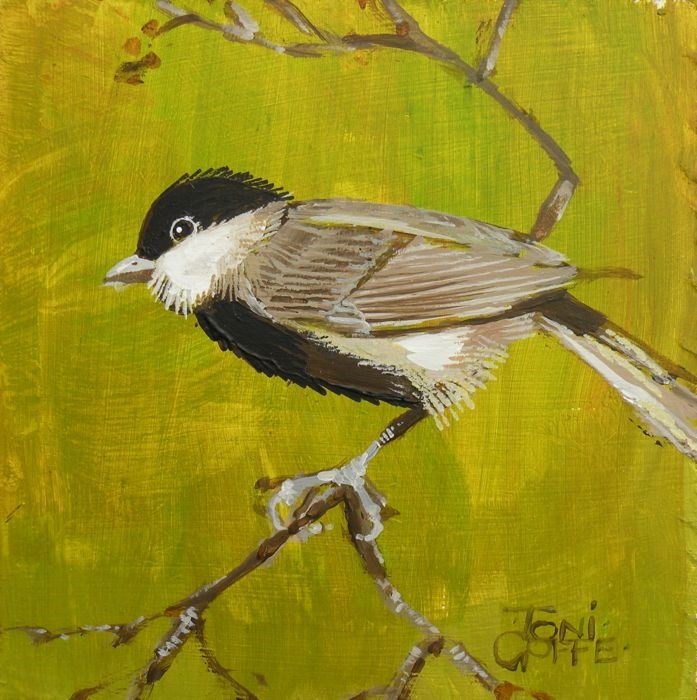 """Marsh Tit"" original fine art by Toni Goffe"
