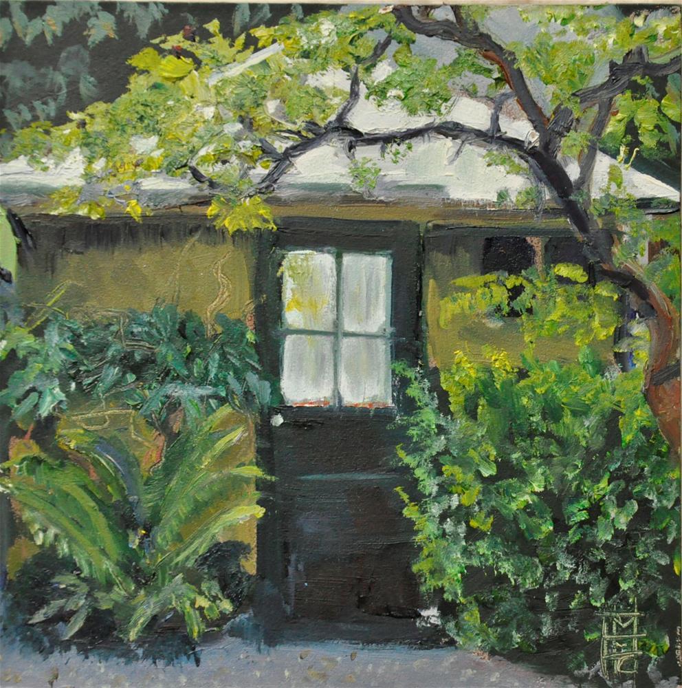 """""""Garden Cottage"""" original fine art by Margot Cole"""