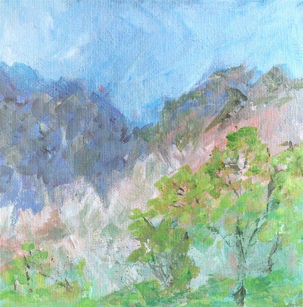 """First Desert Landscape"" original fine art by Kathy Fleming"