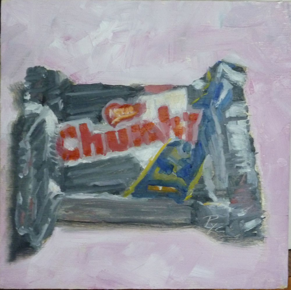 """Chunky Chololate Candy Bar"" original fine art by Mary Pyche"