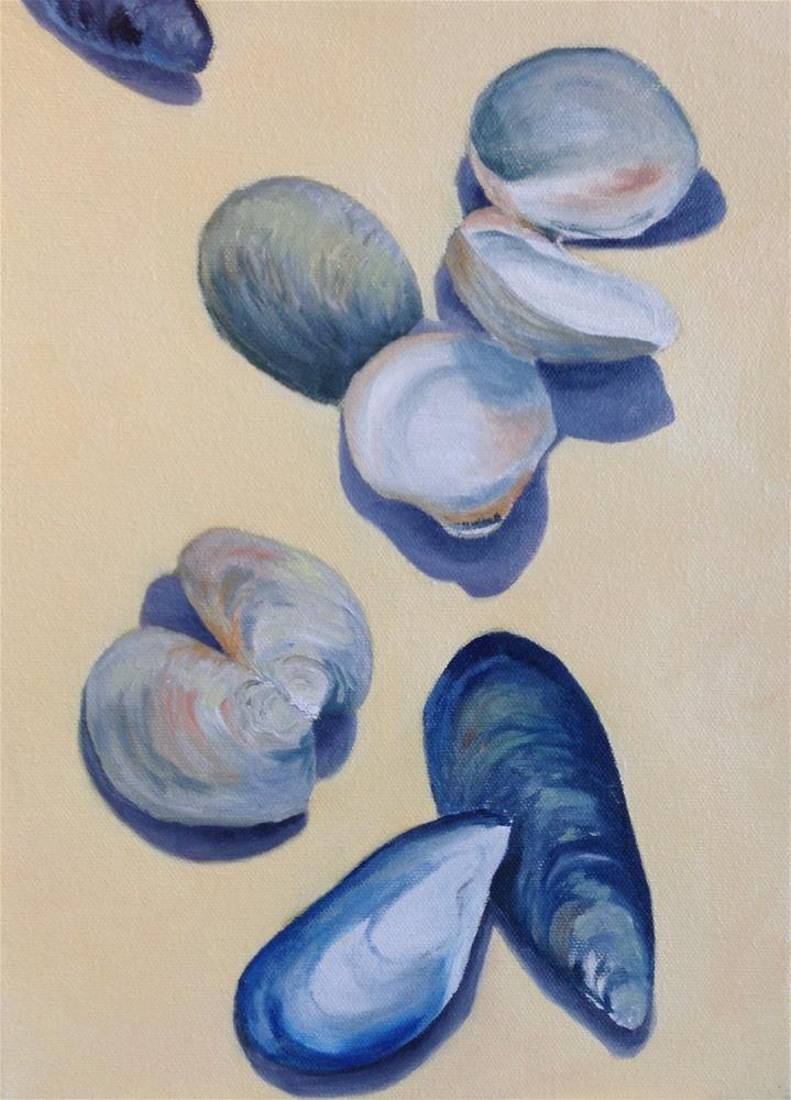 """Clams and Mussels"" original fine art by Karen Collins"
