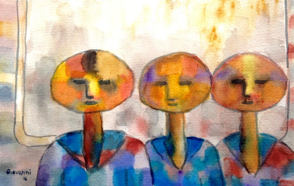 """Brothers"" original fine art by Giovanni Antunez"