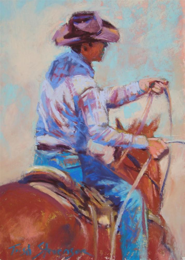 """Gathering Rope"" original fine art by Trish Stevenson"
