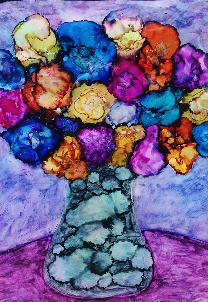 """blooming pastels"" original fine art by Kris Alge"
