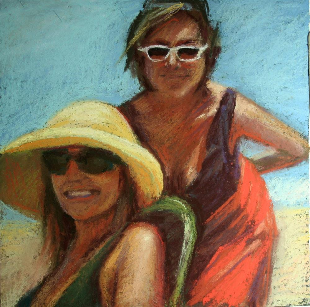 """Bathing Beauties"" original fine art by Janet Zabilski"