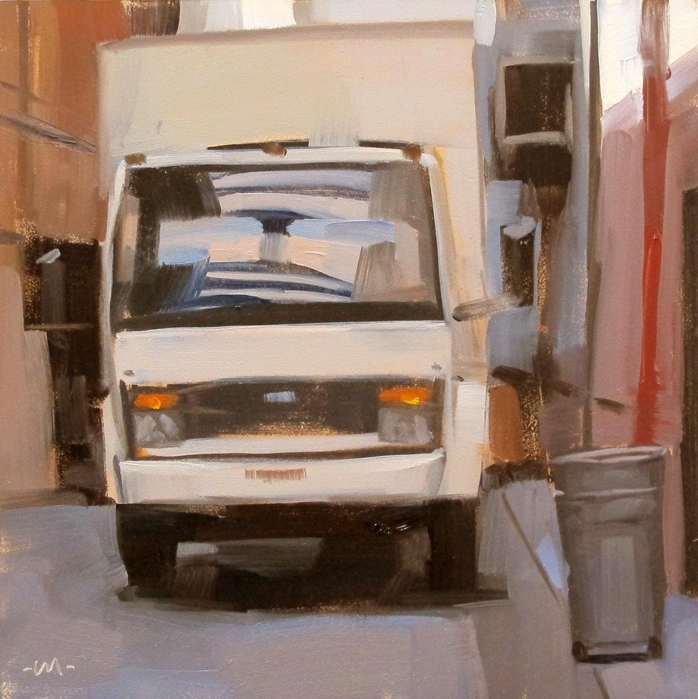 """Alley Van"" original fine art by Carol Marine"