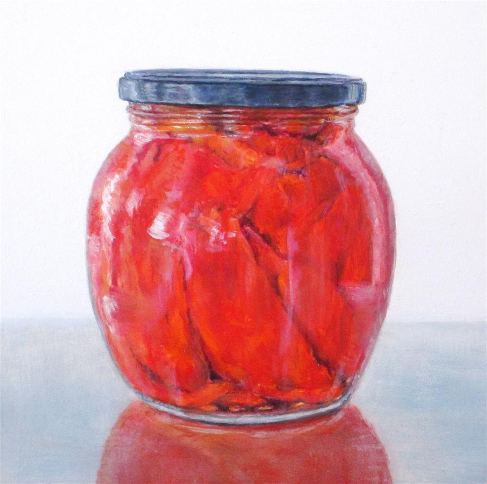 """Roasted Red Peppers"" original fine art by Linda Demers"