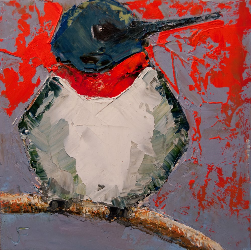 """Ruby-Throated Hummingbird"" original fine art by Jani Freimann"