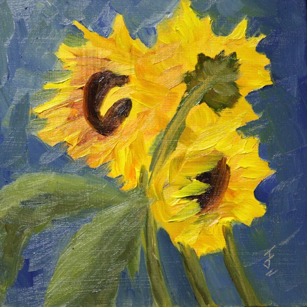 """Sunflower Medley"" original fine art by Jane Frederick"