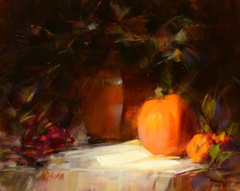 """""""A Few Pumpkins"""" original fine art by Rita Curtis"""