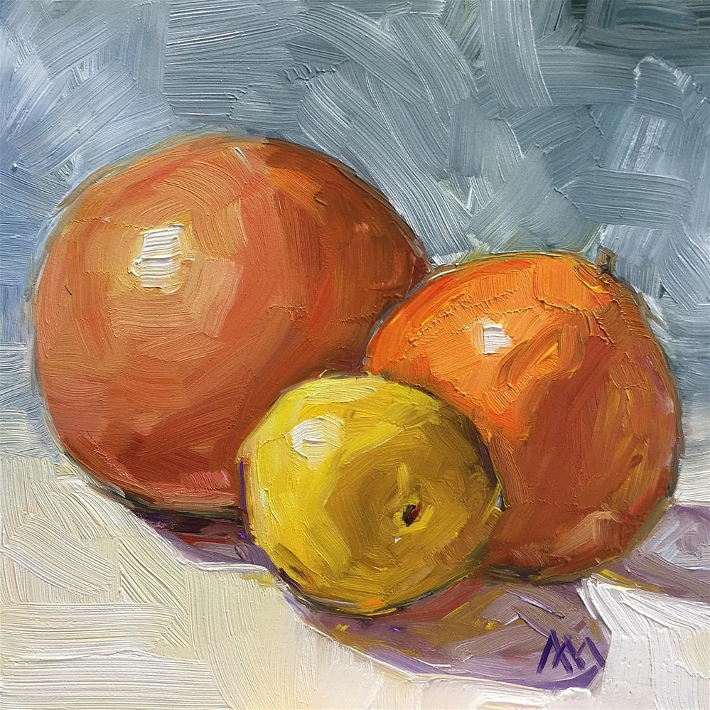 """Grapefruit Lemon Orange"" original fine art by Austin Maloney"