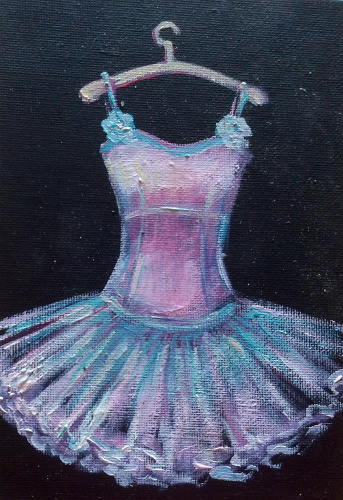 """Pink dancing dress"" original fine art by Sonia von Walter"