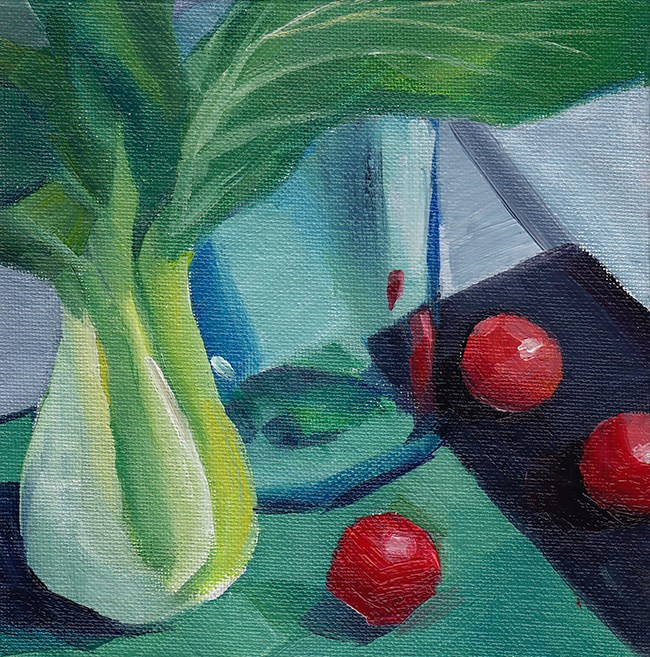 """Pak Choi II"" original fine art by J M Needham"