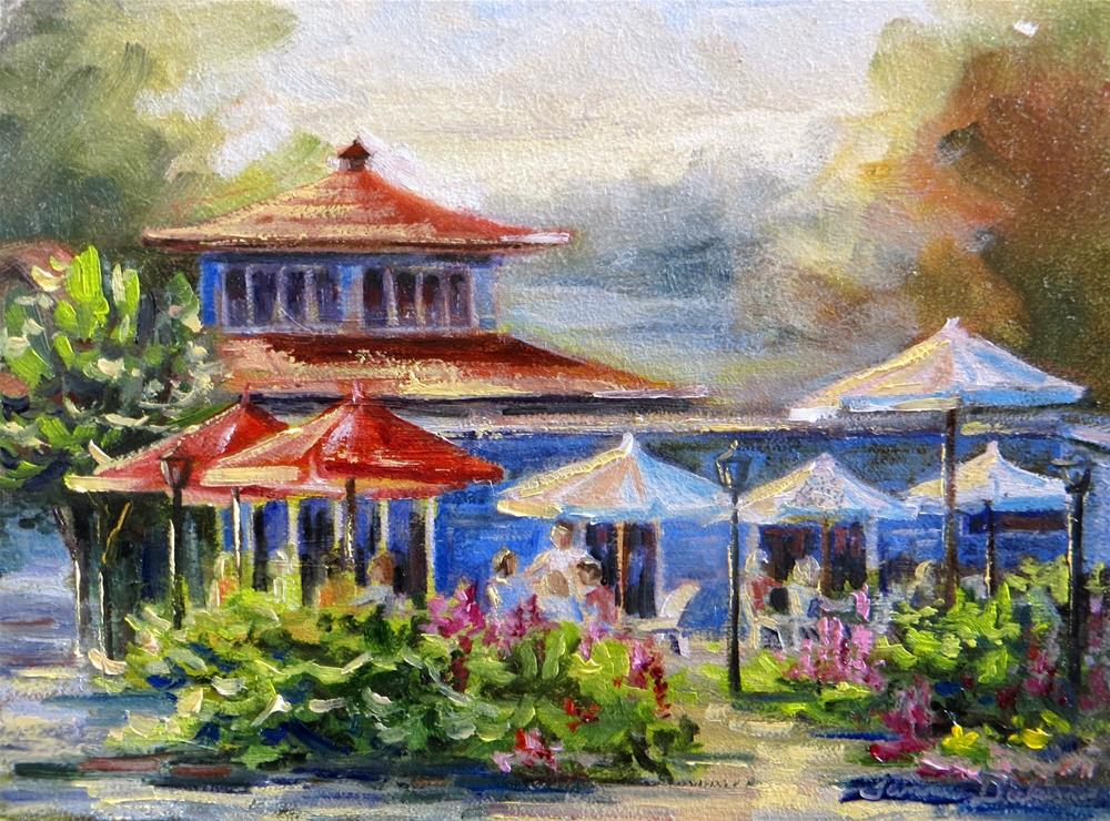 """""""Summertime Cafe"""" original fine art by Tammie Dickerson"""