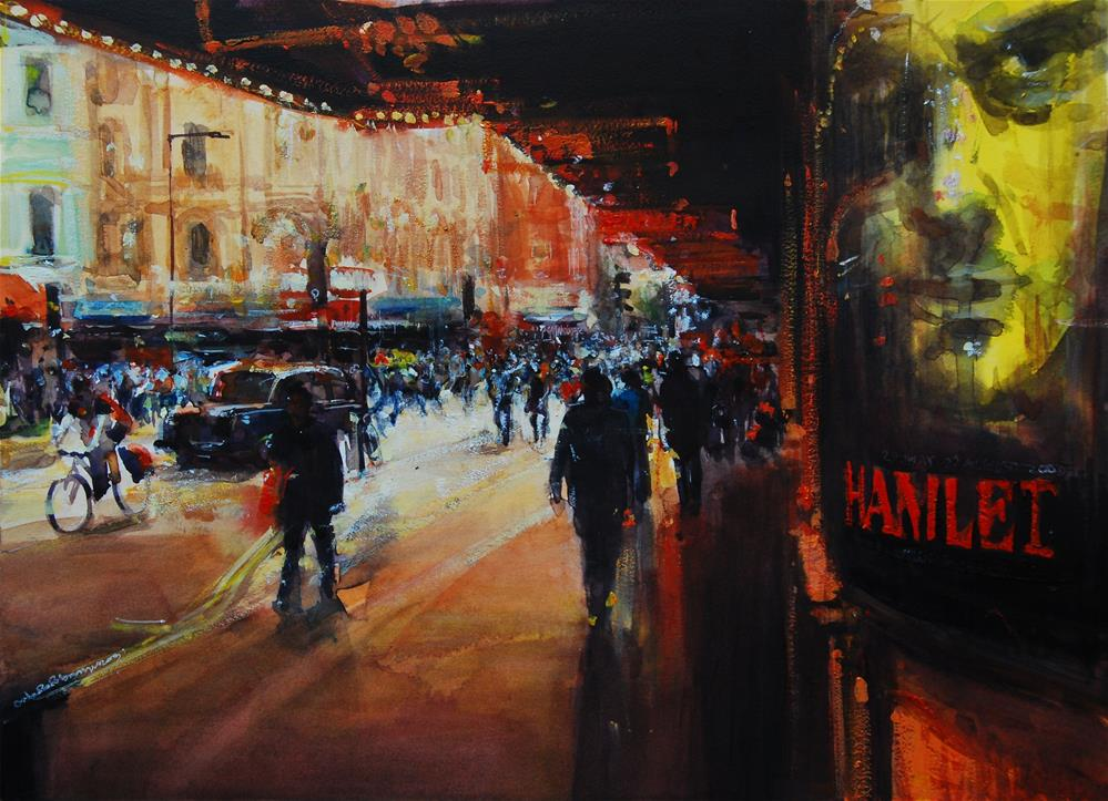 """Evening Light Charing Cross Rd"" original fine art by Adebanji Alade"