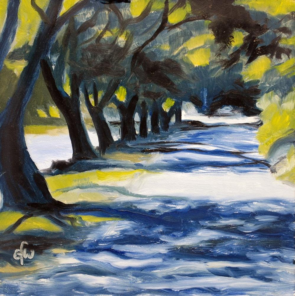 """Lane by the Avon River"" original fine art by Gary Westlake"