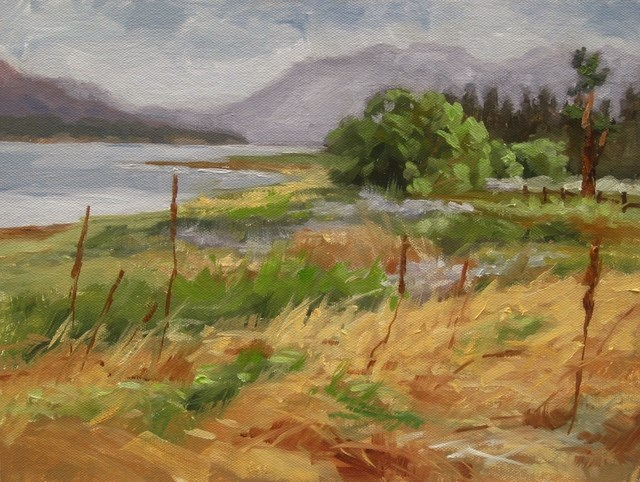 """Cloudy Day, Big Bear Lake"" original fine art by Karen Werner"