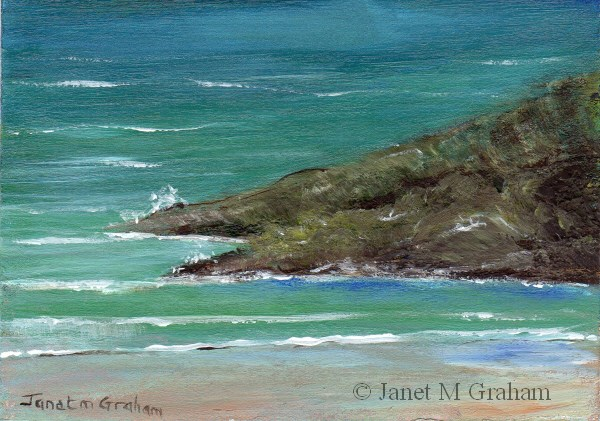 """Headland ACEO"" original fine art by Janet Graham"