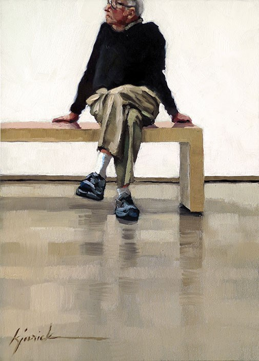 """Bench Test"" original fine art by Karin Jurick"