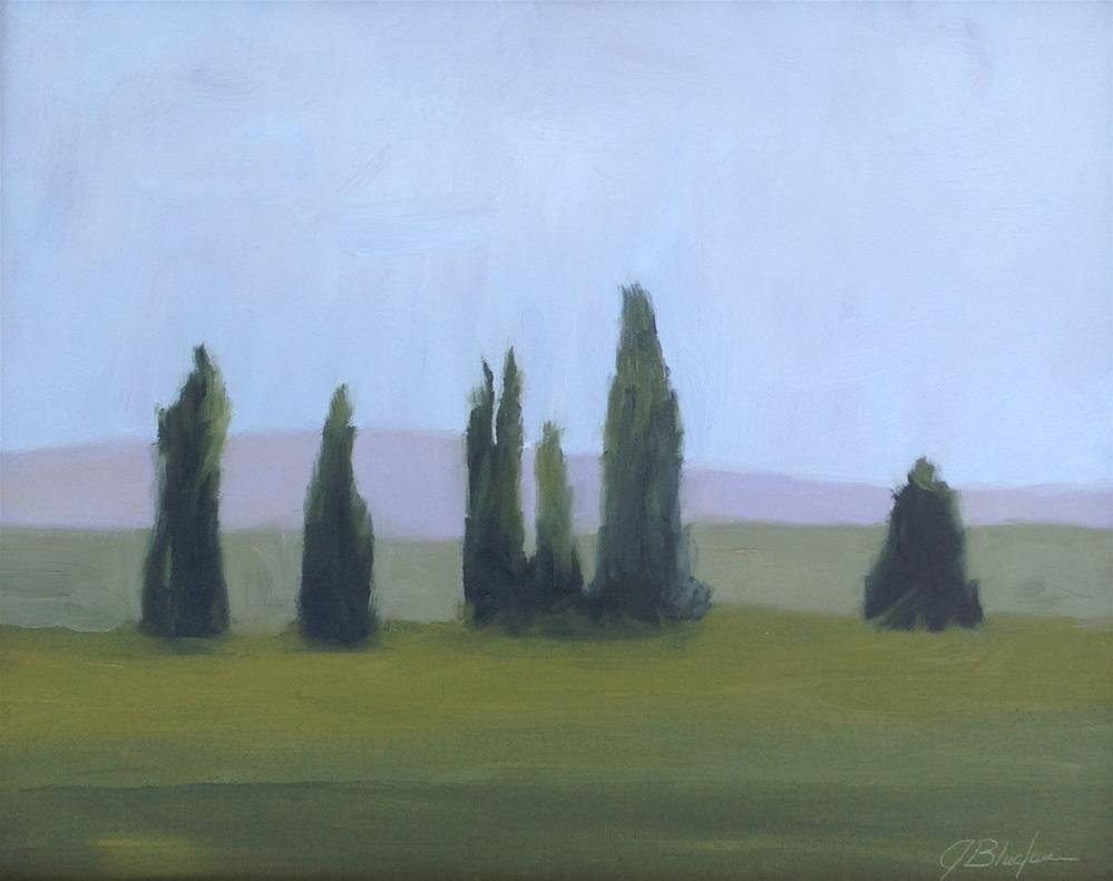 """Central Valley Dusk"" original fine art by Janet Bludau"