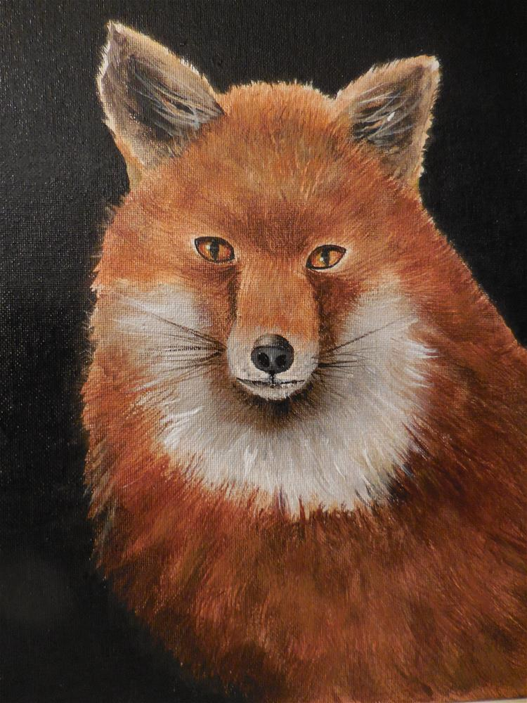 """Red Fox"" original fine art by Terri Nicholson"