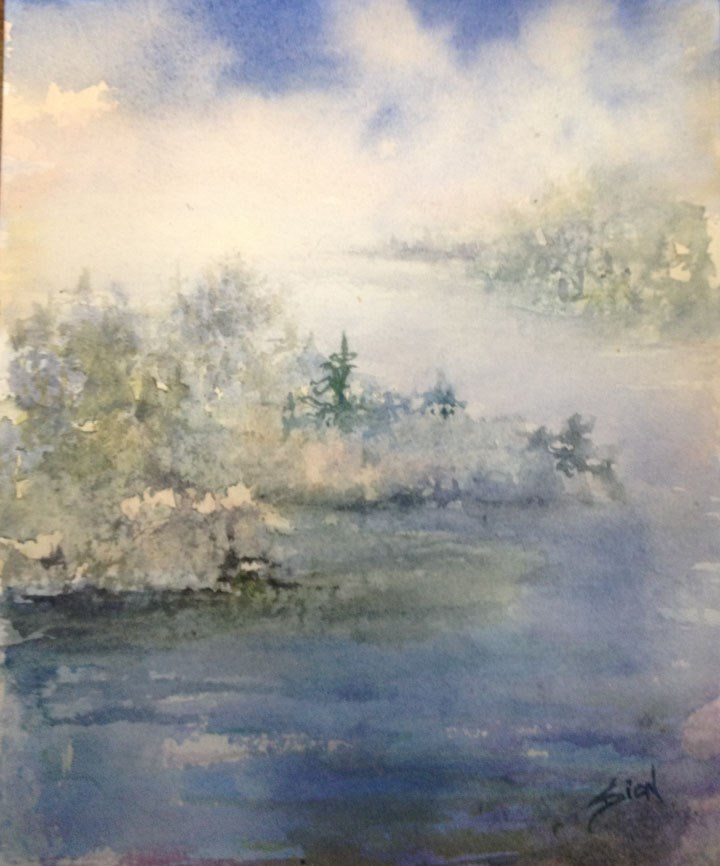 """A Fine and Misty Morning"" original fine art by Sue Dion"