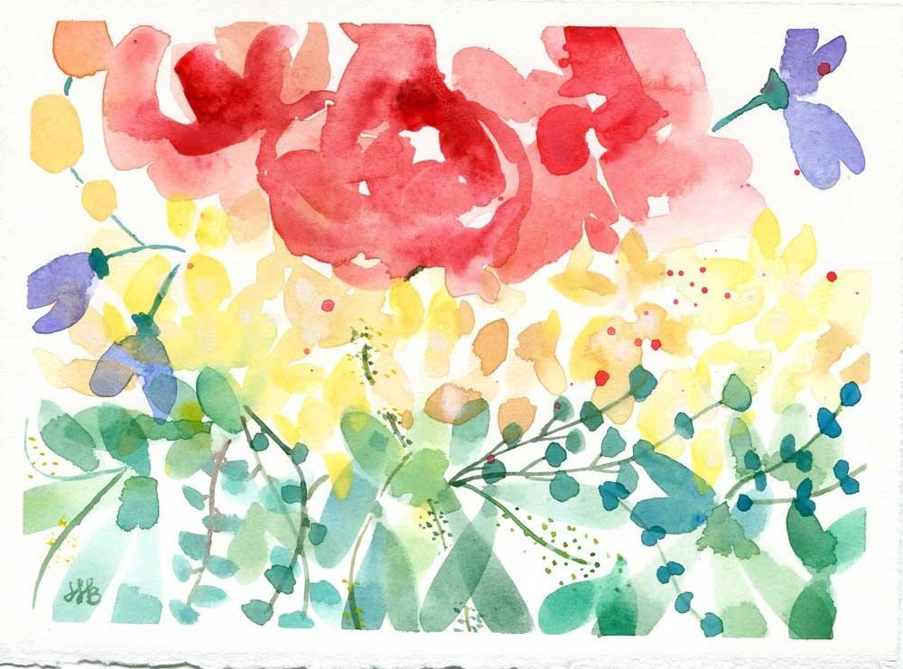 """Color Riot No. 3"" original fine art by Heather Bennett"