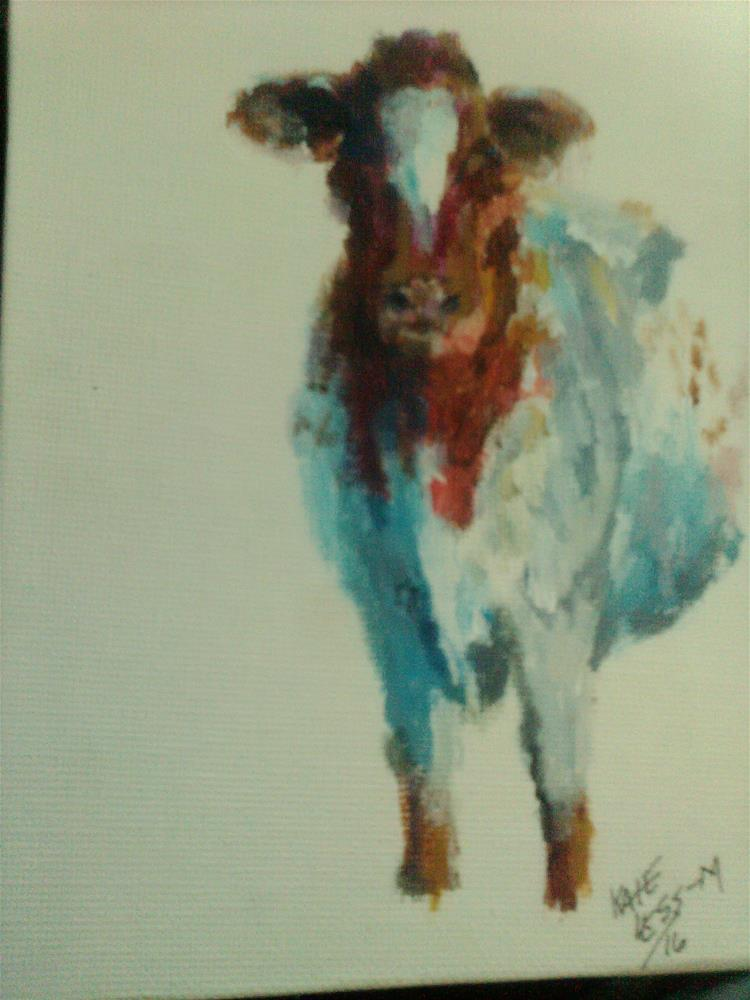 """just a cow"" original fine art by Kate Less-Madsen"
