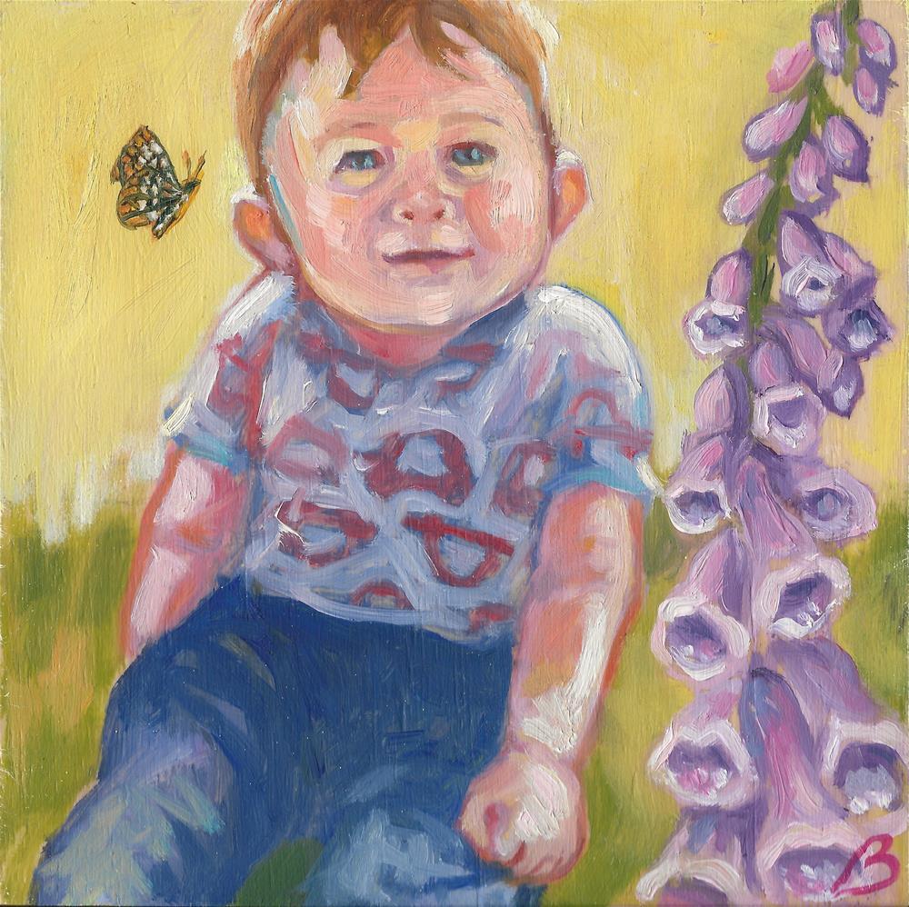 """""""Working in the Garden"""" original fine art by Leigh Buchanan"""