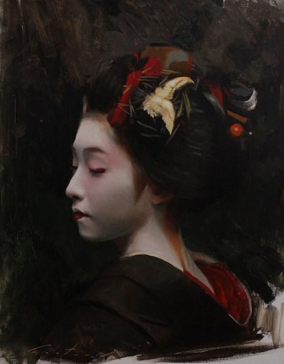 """Kurokami"" original fine art by Phil Couture"