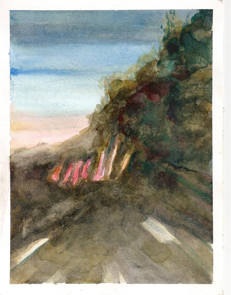 """Dusk Highway"" original fine art by Jean Krueger"