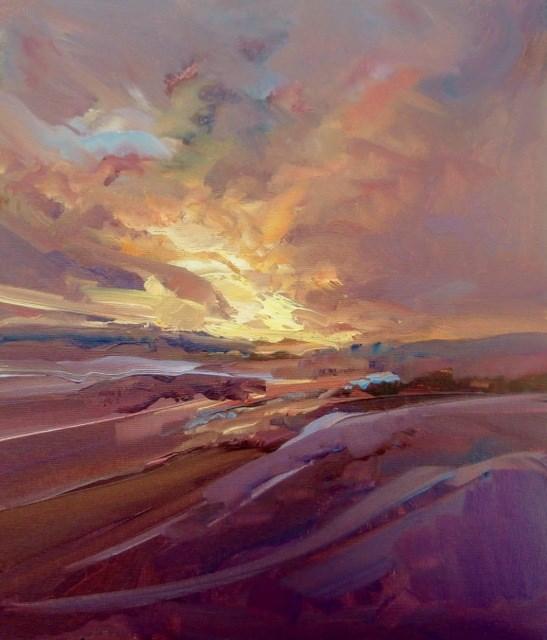 """Atmosphere of Light"" original fine art by Anne Wood"